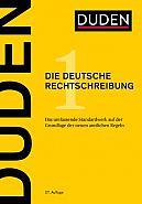 Duden - Die deutsche Rechtschreibung, 27. Auflage 2017