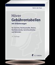 Gebührentabellen, 37. Auflage 2017
