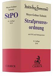 Strafprozessordnung: StPO Kommentar, 62. Auflage 2019