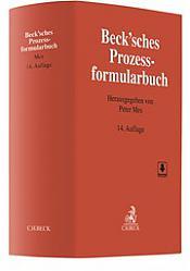Beck'sches Prozessformularbuch, 14. Auflage 2019