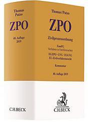 ZPO Zivilprozessordnung, 40. Auflage 2019