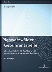 Schwarzwälder Gebührentabellen, 35. Auflage 2021