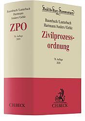 Zivilprozessordnung: ZPO, Kommentar, 78. Auflage 2020