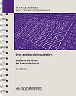 Kostenübersichtstabellen, 25. Auflage 2017