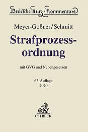 Strafprozessordnung: StPO , 63. Auflage 2020