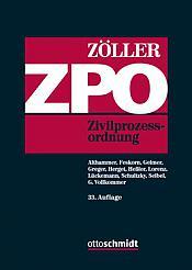 ZPO Zivilprozessordnung, Kommentar 33. Auflage 2019